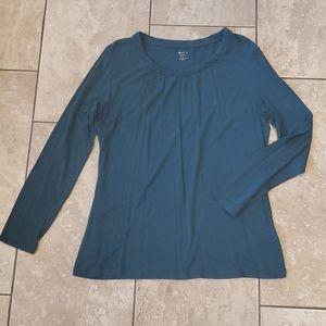 3/$12 teal long sleeve top